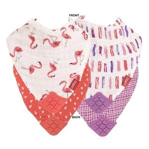 5/$25 Set of 2 Nuby Muslin Teething Bibs